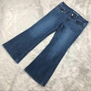 American Eagle Women's Denim Jeans Hipster Flare